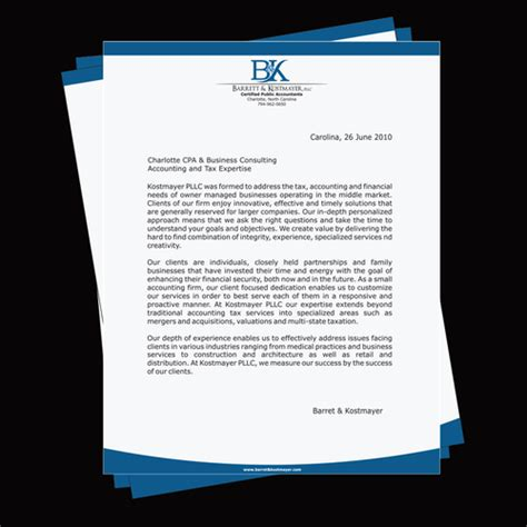 CPA Firm Letterhead and Logo Design | Stationery contest