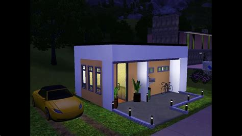 Sims 3 - Very Small Modern House - YouTube