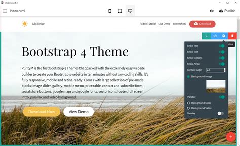 One of the First Bootstrap 4 Themes