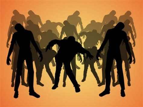 Zombies Silhouettes Pack Vector - AI PDF - Free Graphics