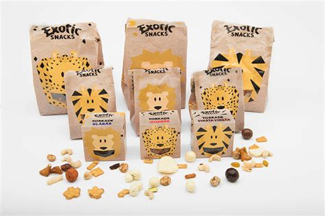 Exotic Snacks Kids Concept (Student Project) on Packaging