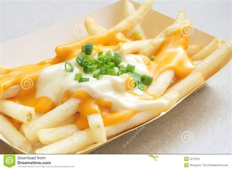 French Fries With Melted Cheese Royalty Free Stock Photo