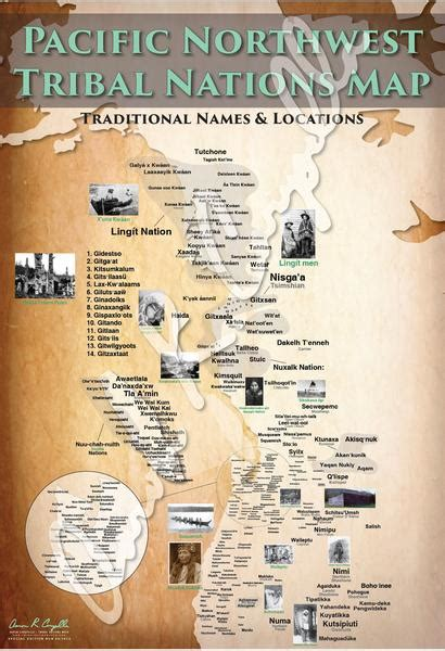 Pacific Northwest Tribal Nations Map – Indigenous Peoples