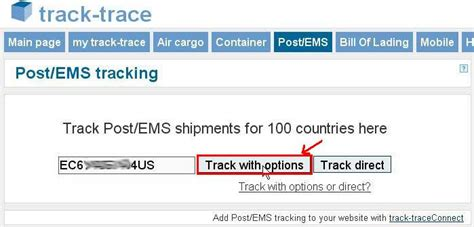 International Shipment: Track and Trace Your Parcel