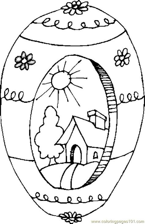 Easter Egg 16 Coloring Page - Free Holidays Coloring Pages