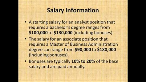 Investment Banking Salary - YouTube