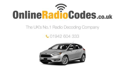 Ford Focus Radio Code Unlock Your Stereo With The PIN