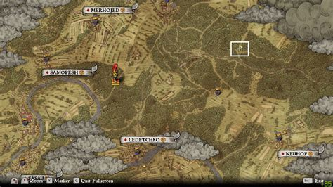 Map location of the first camp when you're hunting with