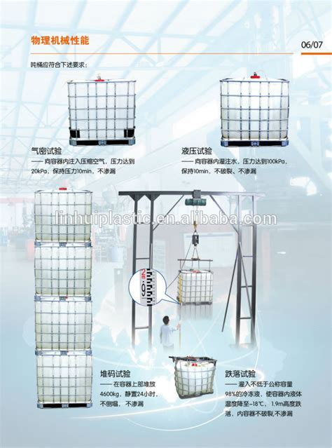1000 Litres Water Ibc Plastic Shipping Storage Containers