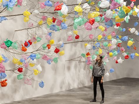 Pascale Marthine Tayou, Plastic Tree, 2014-2015 branches
