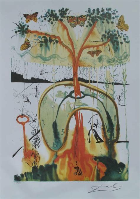 Salvador Dali Signed L/E Lithograph MAD TEA PARTY from