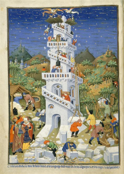 File:Building of the Tower of Babel - Bedford Hours (1414