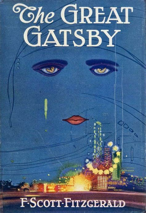 """Vintage Book Cover Print """"The Great Gatsby"""" - F Scott"""