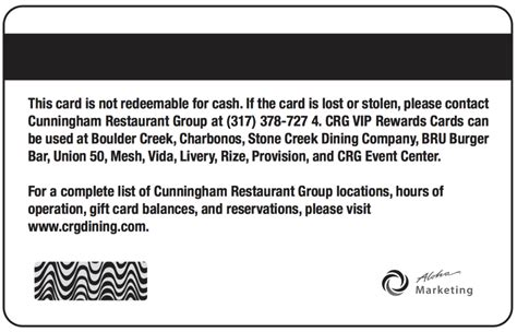 Loyalty Frequency or Club Disclaimer Samples - Card