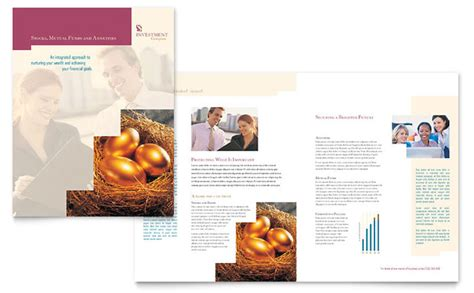 Investment Company Brochure Template Design