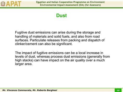 PPT - EIA of a Cement Industry Evaluation of Impact