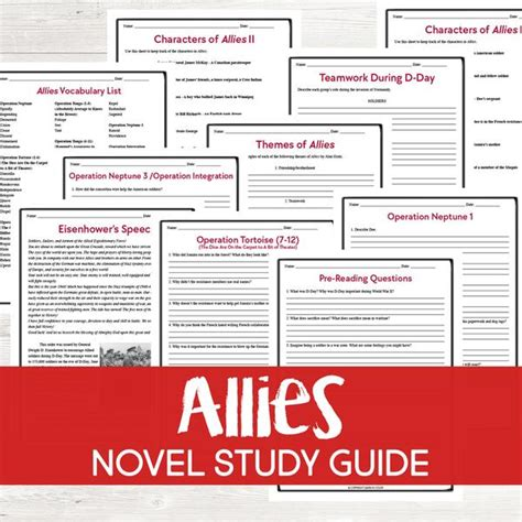 Allies by Alan Gratz Book Study Grades: 6-8 – Learn in Color